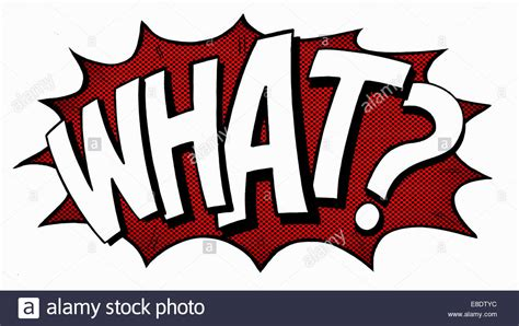 what of what comic book text stock photo royalty free image 74063680 alamy
