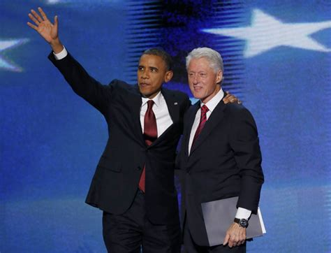 file barack obama and bill clinton in the oval office jpg barack obama and bill clinton electrify crowd at
