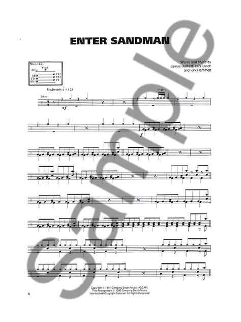 metallica xylophone metallica the black album drum edition drums sheet