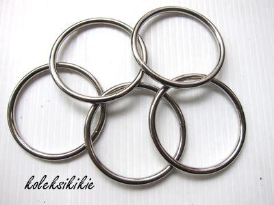 Kait Gantungan Kunci Push Gold ring silver 40 mm koleksikikie