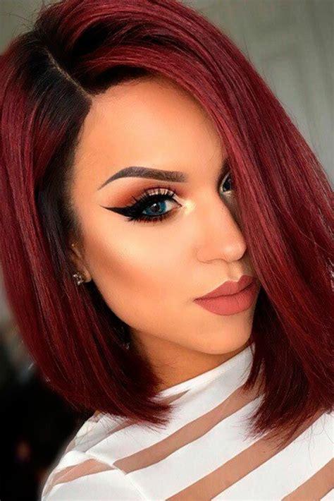 cut curl hair with cherry red colour pelo rojo los tonos c 225 lidos vuelven a estar de moda este