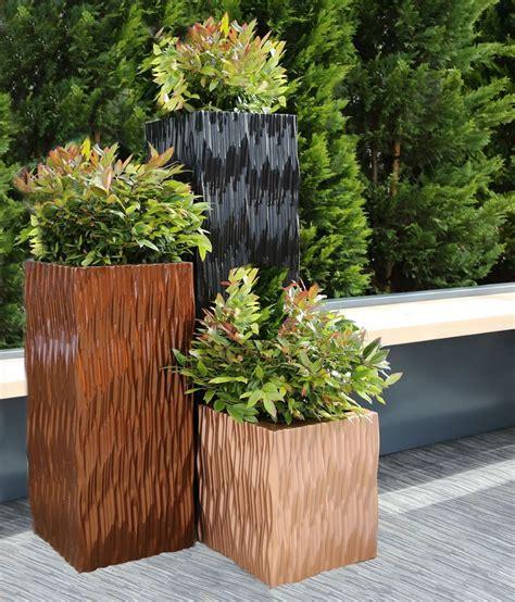 grp flexi tall square trough planters  potstoreco