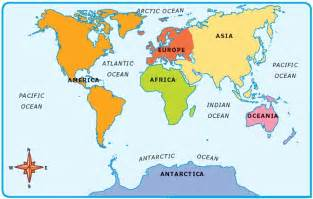 Map Of The World Oceans by Pics Photos Map Of 7 Continents And Oceans