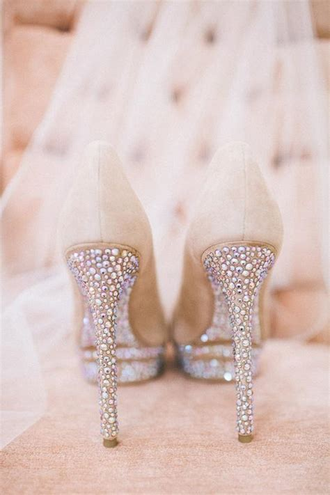 Glamorous Sparkly High Heels Wedding Shoes #1919960   Weddbook