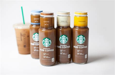 product layout of starbucks starbucks launches new iced coffee line the dieline