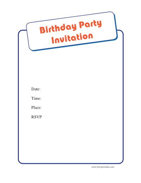 43 free birthday party invitation templates free