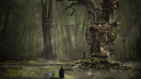 Treehouse Backyard Swamp Village By Hankep On Deviantart