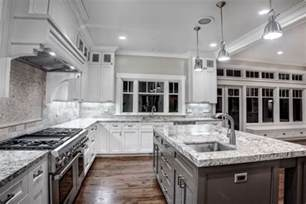 Kitchen Countertop And Backsplash Ideas Luna Pearl Granite Countertops Give Your Kitchen A