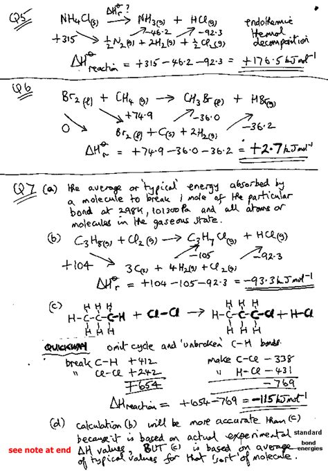 Thermochemistry Worksheet With Answers by A Level Gce Worked Exles Of Enthalpy Calculations