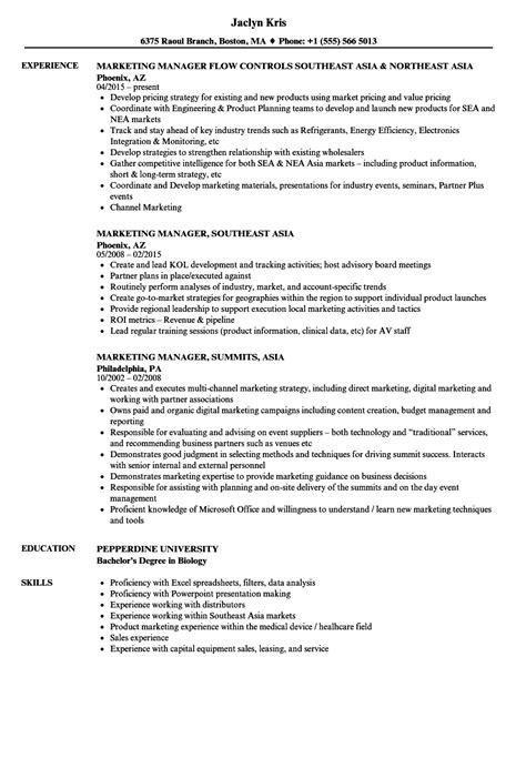 field marketing manager sle resume hotel clerk sle resume cover letter for designer
