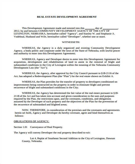 business development agreement template business development agreement template free form