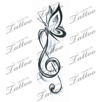 butterfly music note tattoo designs pin by shell on tattoos