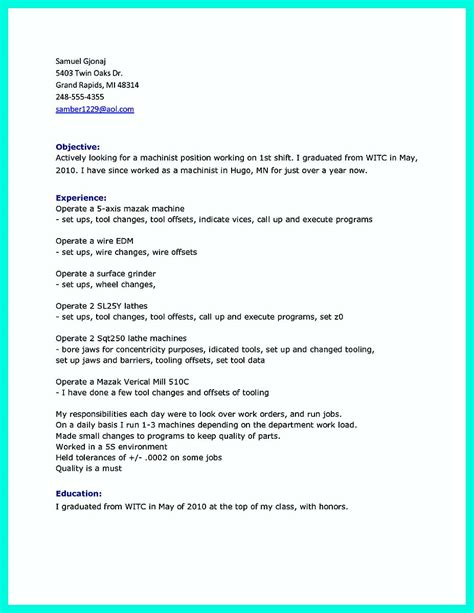 writing qualifications cnc machinist resume must writing your qualifications in cnc machinist resume a must