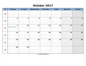 Calendar October 2017 Printable With Lines October 2017 Calendar Printable Printable Calendar Office