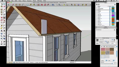 how to design a house on google sketchup how to draw a tiny house with google sketchup part 5 youtube