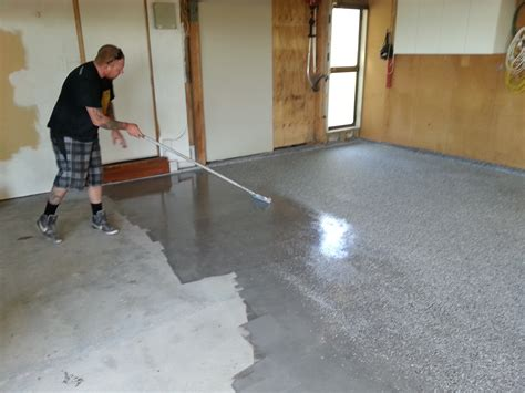 painting floor garage floor paint or coating