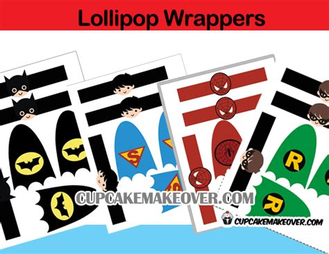 superhero lollipops ironman cape mask instant download