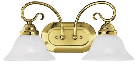 Brass Vanity Light Fixtures by Coronado 2 Light Livex Polished Brass Bathroom Vanity