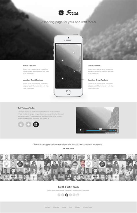 template photoshop responsive free focus a responsive fashion landing page template