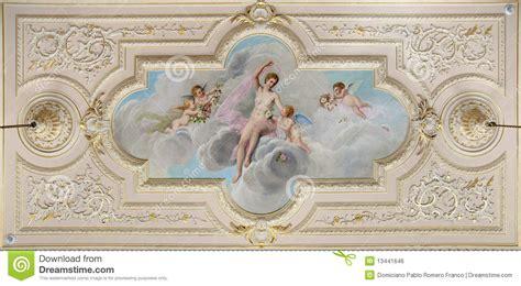 affreschi soffitto affresco soffitto fotografia stock immagine di figura
