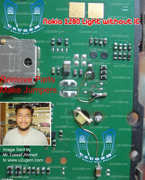 nokia 1280 display ways problem repair solution nokia 1280 light without ic display keypad led 100 tested