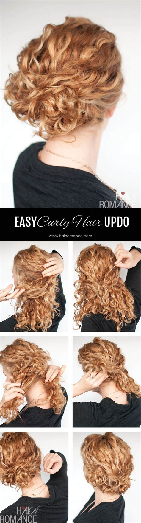 Hairstyles For Hair Updos Easy by Easy Updo Hairstyle Tutorial For Curly Hair Hair