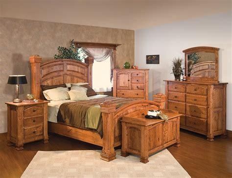 bedrooms furniture sets luxury amish rustic cherry bedroom set solid wood king bed cabin ebay