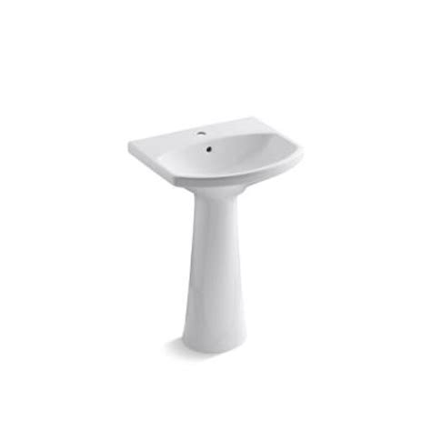 home depot kohler bathroom sink kohler cimarron single hole pedestal combo bathroom sink