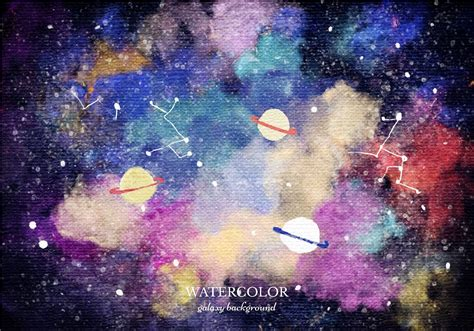 galaxy vector wallpaper vector watercolor planet galaxy background download free