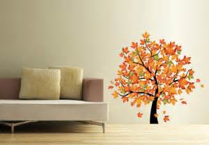 Simple Indian Home Decorating Ideas maple tree in autumn wall decal beautiful fall decoration