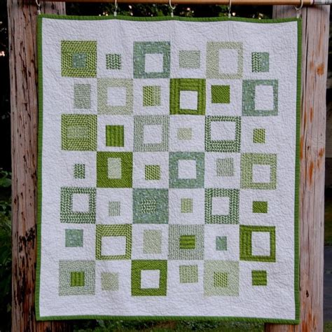 Simple Patchwork Designs - it s easy being green squares modern quilt squares