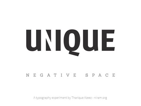 unique means unique negative space by tharique azeez dribbble