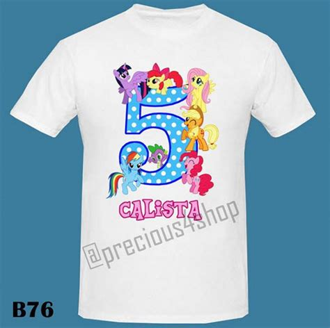 Baju Kaos Family Sweet jual tema my pony 5th birthday baju kaos family t shirt precious4shop