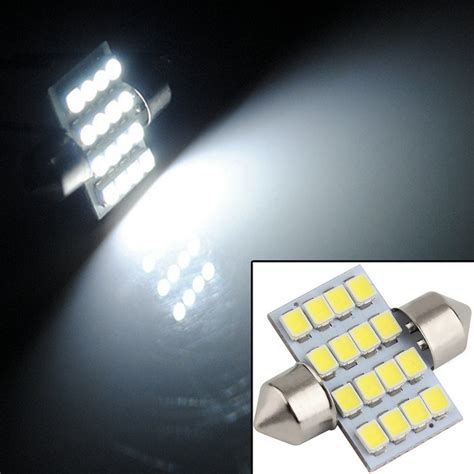 Lu Led Kecil Mobil lu interior mobil led white 31mm festoon 16 smd
