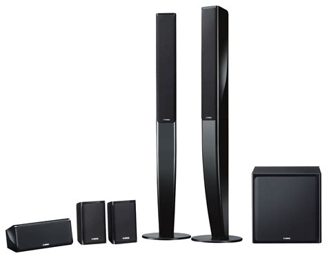 Speaker Simbadda Home Theater yamaha 5 1 channel home theater speaker system with powered subwoofer black ns pa40bl best buy