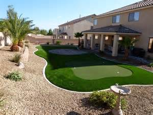 Backyard Desert Landscaping Ideas Desert Greenscapes Artificial Grass Las Vegas Nevada Landscaping
