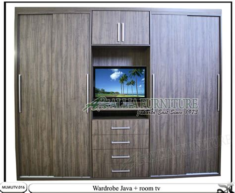 Lemari Baju Dan Tv Lemari Minimalis Sliding Tv Unit Java Allia Furniture