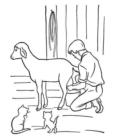 farm goat coloring page farm scene coloring pages are great for teaching children