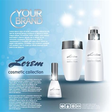 design poster cosmetic cosmetic poster template design vector 02 vector cover