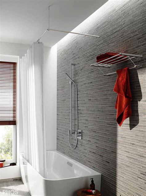 Duschvorhangstange Für Badewanne badewannen vorhang design