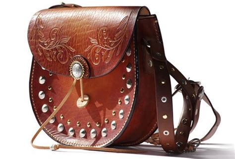 Handcraft Bag - handcraft retro crossbody leather rivet dyed shoulder