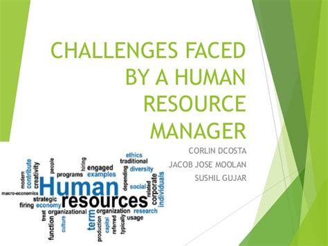 challenges faced by hr managers challenges faced by a human resource manager