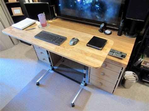 Sit And Stand Computer Desk Sit Stand Adjustable Height Computer Desk