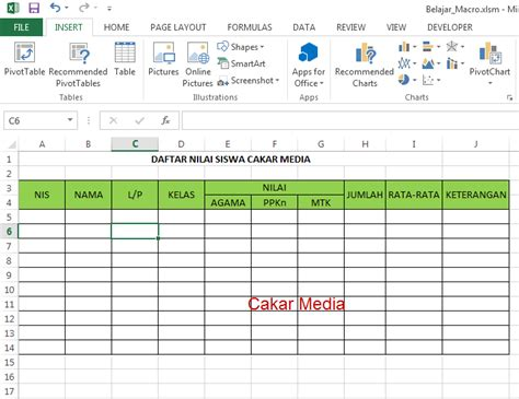 cara membuat aplikasi form di ms excel membuat aplikasi form sederhana di ms excel 2013