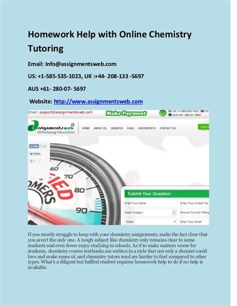 Homework Help In Chemistry by Homework Help With Chemistry Tutoring