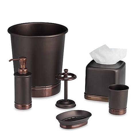Bathroom Accessories Bronze York Rubbed Bronze Bath Accessories From Bed Bath Beyond For A Purple And Gold Bath