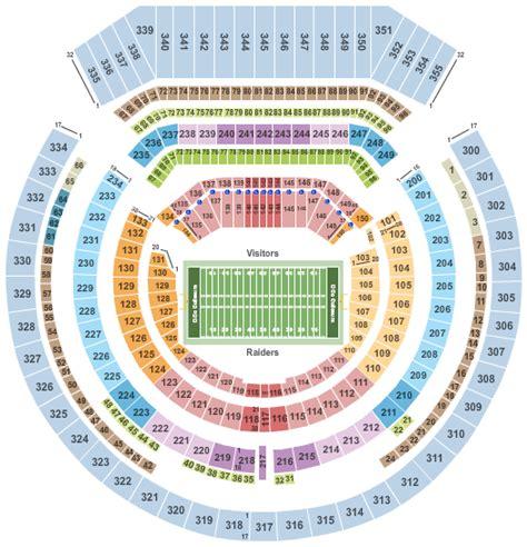 raiders seating chart oakland raiders tickets 2017 cheap nfl football oakland