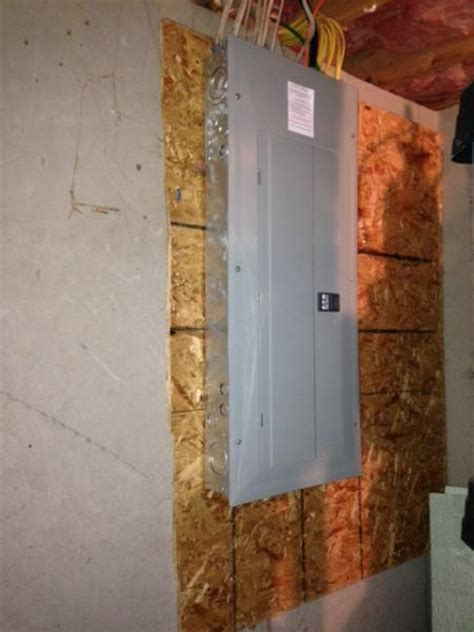 Electrical panel & subpanel   location and framing