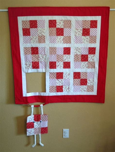 Patchwork Wall Hanging Patterns - runaway quilt block hang in there humorous quilted wall