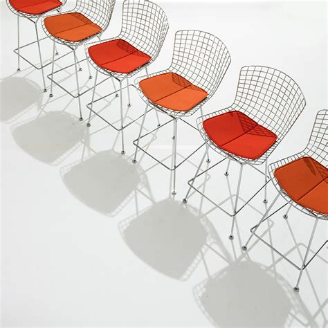 Sgabello Bertoia by Knoll Sgabello Bar Con Cuscino Bertoia Myareadesign It
